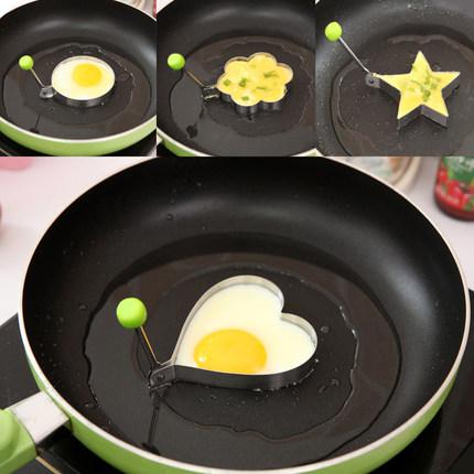 khuôn trứng hình tim